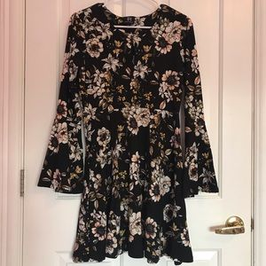 Black Derek Heart Floral Dress